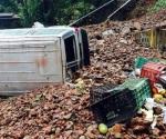 Se derrumba cerro en Michacán