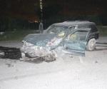 Cuatro lesionados en choque