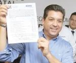 Presenta Cabeza solicitud de registro