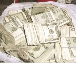 Aseguran $500 mil dólares en efectivo