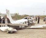 Aterrizaje forzoso en vía de Salinas Victoria, N.L.