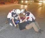 Lesionado al chocar su moto con camioneta