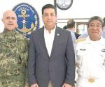 Preside Cabeza de Vaca mesa de seguridad en la Primera Zona Naval