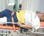 Se fractura una pierna ama de casa
