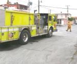 Atienden los bomberos dos alarmas en colonias