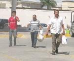 Libres ex funcionarios detenidos por robo