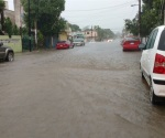 Tromba ocasiona caos en zona sur de Tamaulipas