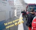 ¡Rayos, se quema camión!