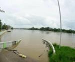 A punto de desbordarse el río Pánuco