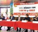 Reitera PT alianza total con Morena
