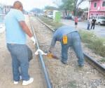 Destroza cuerpo el tren