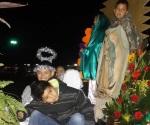Realizan peregrinaciones en honor de la Virgen de Guadalupe