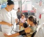 Brigada médica para apoyar a las personas enfermas