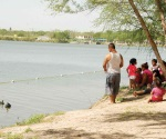 Redoblan vigilancia en las márgenes del río Bravo en La Playita estas vacaciones