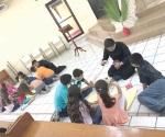 Realizan seminaristas actividades con niños