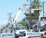Por semana cinco postes de la CFE son destruidos