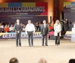 Magnifica participación de candidatos en el debate