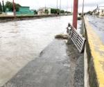 Se desborda dren de las Mujeres por la lluvia