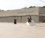 Las lluvias trajeron también diversión para muchos ciudadanos