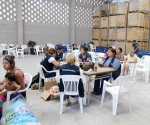 Crean voluntarias comedor para los damnificados, se ubica en una bodega