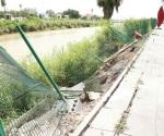 Se desgaja bordo de canal Anzaldúas, colapsa malla