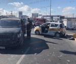 Choca taxista y se lesiona en Reynosa