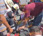 Motociclista herido en choque