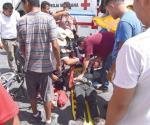 Se la parte motociclista en accidente