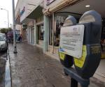 Retiran parquímetros de la calle Hidalgo, en la capital