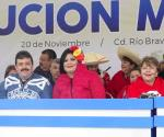 Rememoran Revolución Mexicana con grandioso desfile