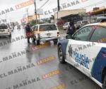 Choque en carretera a Monterrey deja dos lesionados