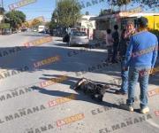 Arrolla microbús a mujer de la tercera edad en la Rodríguez