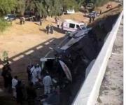 Cae autobús de puente en SLP; hay 7 muertos