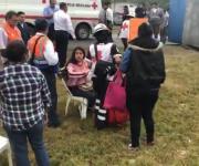 Deja seis lesionados volcadura de autobús que iba de Tampico a Victoria