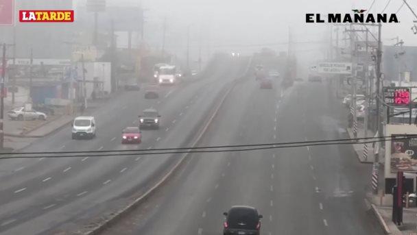 Amanece Reynosa cubierta de una densa neblina