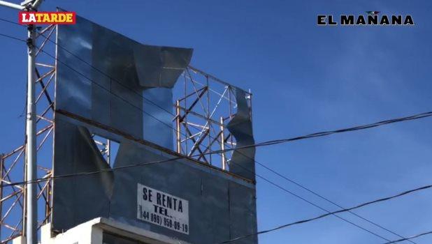 Azotan fuertes vientos en Reynosa que generan algunos daños