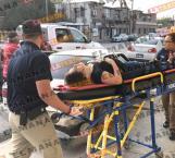 Triple choque; mujer y bebé lesionadas