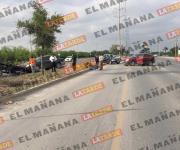 Daños materiales tras choque en bulevar Oriente