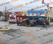 Choque en bulevar Morelos