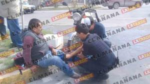 Motociclista lesionado tras accidente en la Juárez