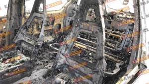 Pérdida total de camioneta incendiada en Villa Florida