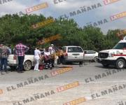 Choque en la carretera Ribereña dos lesionados
