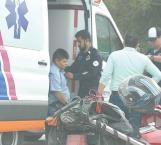 Motociclista lesionado en un choque