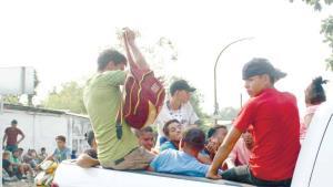 Caravana migrante se divide en Chiapas