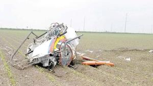 Desploma helicóptero en Donna; piloto herido