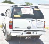 Aseguran camioneta con droga
