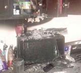 Oportuna intervención de bomberos en incendio de un microondas en cocina
