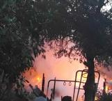 Pierde familia su casa por incendio en Buena Vista