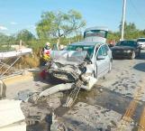 Ebria provoca espeluznante accidente que dejó 4 heridos