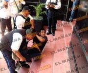 Riña en acceso del Palacio Municipal de Tampico